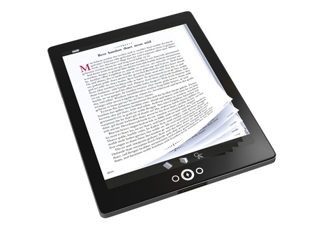 Tablet image related to final ebook production